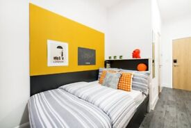CLASSIC ENSUITE FOR RENT IN LONDON FOR STUDENTS WITH SMALL DOUBLE BED, PRIVATE BATHROOM & ROOM
