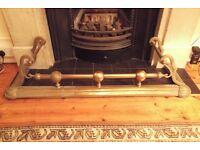 Antique fireplace fender brass Richmond, Surrey