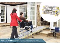 13ft (easily reduced) Roll-a-ramp mobility Ramp, Wheelchair or quad bike Just £845 (RRP 2171.00)
