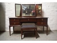 Stag minstrel dressing table with stool (DELIVERY AVAILABLE)