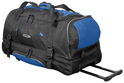 XL Reisetasche mit Rollen Schuhfach Hemdenfach Trolley für Damen und Herren