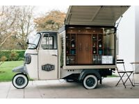 Prosecco & Beer Van Bar Conversion - Business For Sale - NEVER USED - Piaggio Ape Classic