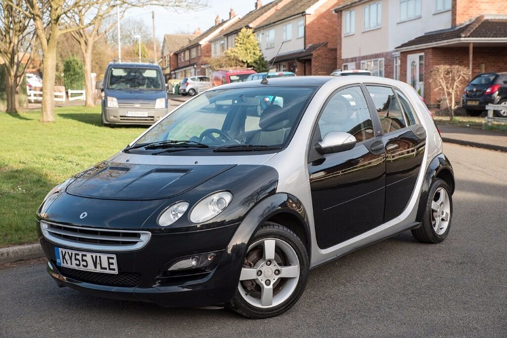 2005 55 smart forfour passion 1 3 black silver 85k miles mot oct 2017 new clutch 3 month. Black Bedroom Furniture Sets. Home Design Ideas