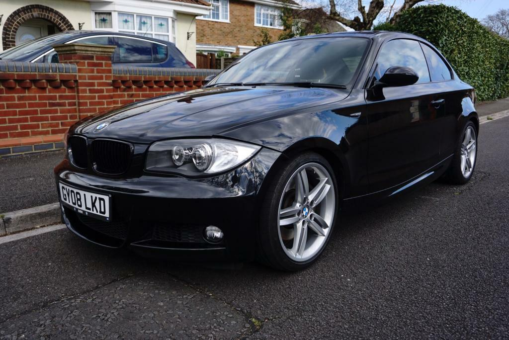 bmw 1 series coupe 123d 2 0 2008 black in highcliffe. Black Bedroom Furniture Sets. Home Design Ideas