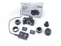 Panasonic Lumix GH2 digital camera with lenses and accessories