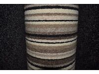 Splendor Brown Stripe Carpet 3.8m x 4m (168)