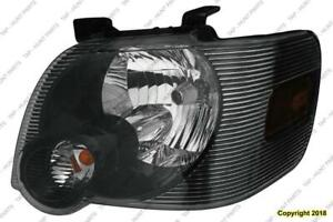Head Light Driver Side Black Bazel Ford Explorer 2006-2010