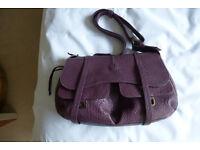 Radley Purple Leather Handbag