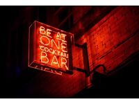 Enthusiastic host required for Be At One Cocktail Bar in Barton Arcade