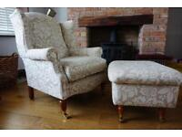 Laura Ashley southwold Armchair and matching footstool