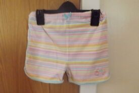 Girls Shorts Age 12-18 Months