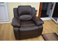 Leather Sofa Chair in Brown good condition