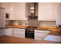 Complete Kitchen for Sale - Hi-Gloss White with Solid Oak Worktop