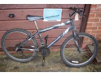 "Apollo Outrider Boys Mountain Bike.14"" Frame.18 Speed. Serviced. New Cables.(5.2)"