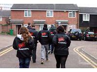 Roaming Door to Door Fundraising £252-306 basic p/w plus uncapped bonuses