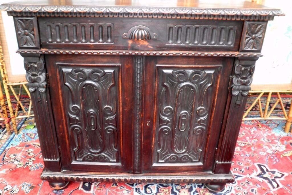 ANTIQUE VICTORIAN HAND CARVED CABINET PANELLED DOORS WITH SHELVES V.G.CONDITIONin Kilburn, LondonGumtree - ANTIQUE VICTORIAN HAND CARVED CABINET PANELLED DOORS WITH SHELVES VERY .GOOD .CONDITION WIDTH...100 CMS HEIGHT..95 CMS DEPTH...42 CMS PLEASE SEE MY OTHER SIMILAR CARVED OAK CABINET VERY EASY NW LONDON COLLECTION.. LOW COST BUDGET MAINLAND UK COURIERS...