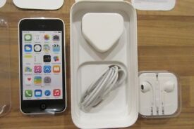 White iphone 5c 8gb unlocked-Very good condition