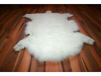 New Organic Sheepskin Rug White XL