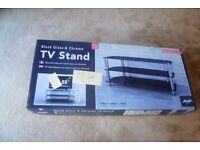 Brand new,chrome and glass TV stand for up to 55 inch flat screen TV