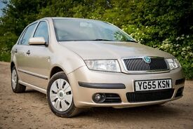 Skoda Fabia 2005 Hatchback 1.2 12V Ambient (64bhp) 5d in Beige Gold, Excellent little run about
