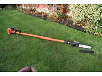 long reach petrol chainsaw power pruner 10 foot reach