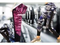 Beautiful Fitness Leggings With Mesh Inserts