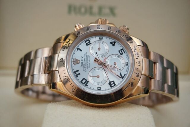 Rose Gold Rolex Daytona White Face Comes Rolex Boxed