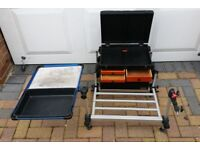 FOX MATCH SEAT BOX AND BAIT TRAY AND FOOT REST FISHING