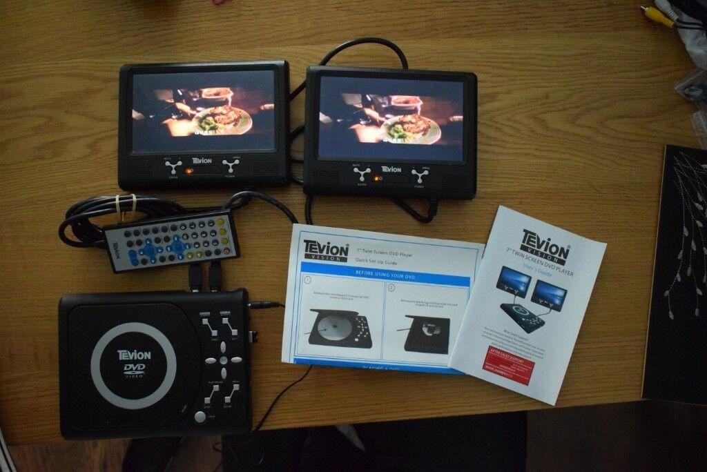 TEVION 7 Twin Screen In Car Headrest DVD Player