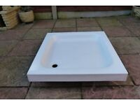 Stone resin shower tray 750mm x 750mm white, buyer collects.