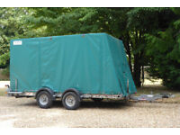 Brian James Minno covered trailer, 2006, good for light/vintage/racing car or bikes