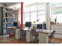 Desk spaces to rent in bright studio in Brixton