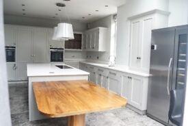 Stunning Plain & Simple Designer Kitchen & Appliances, Island, Granite £55K