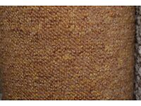 100% Polypropylene Brussels Loop Pile Carpet Gold 4.1m x 4m (164)