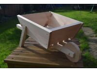 Handmade Wooden Wheelbarrow Planter