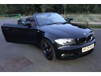 BMW 1 Series 120d M Sport Auto 2009 Convertible Black Leather Cheap Bargain Car
