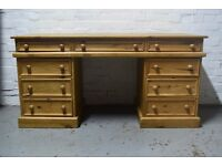 pine pedestal desk (DELIVERY AVAILABLE)