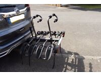 4 Bicycle Carrier, Tiltable fits Tow Bar