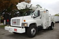 2004 GMC Topkick Altec Crane,Digger Derrick with service body,Au