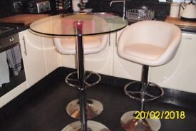 glass leather chrome kitchen table