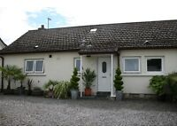 Semi detached Bungalow with very private garden, residential location in the village of Fochabers.