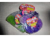 BRAND NEW Lacing & Beading / Beads Sets in Teddy Bear and Handbag Shaped Cases, Histon