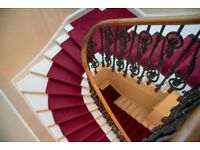 High quality XL majestic red stair runner carpet perfect for stairs in large building