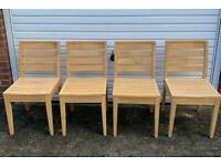 Dining Chairs x4 - Solid Wood - Strong and Sturdy - Can Deliver