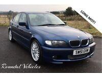 "BMW 330i 330 m sport saloon Blue with Cream Lthr, Stunning car , Long MOT FSH, auto 18"" alloys"