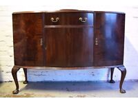 Mahogany Sideboard With Ball And Claw Feet (DELIVERY AVAILABLE)