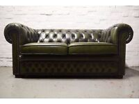 Chesterfield two seater sofa (DELIVERY AVAILABLE)