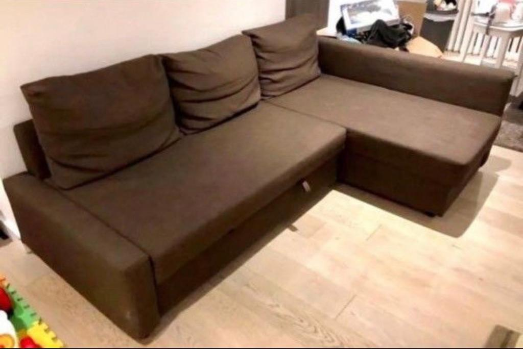 Remarkable Ikea Corner Sofa Bed Brown Colour With Storage Ikea Moheda Good Condition Stain Free In Old Street London Gumtree Creativecarmelina Interior Chair Design Creativecarmelinacom