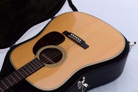 Martin HD-28 Retro Electric Acoustic Guitar With Case - Amazing Condition!
