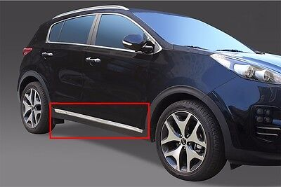Side Skirt Chrome Garnish Accent Molding Trim 4P For 2017 Kia Sportage : QL